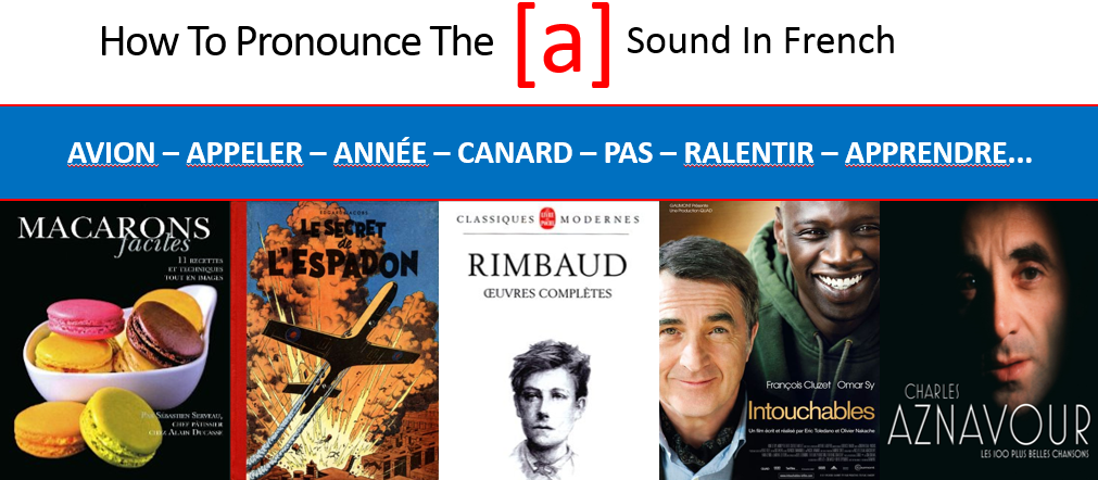 French pronunciation of the sound A