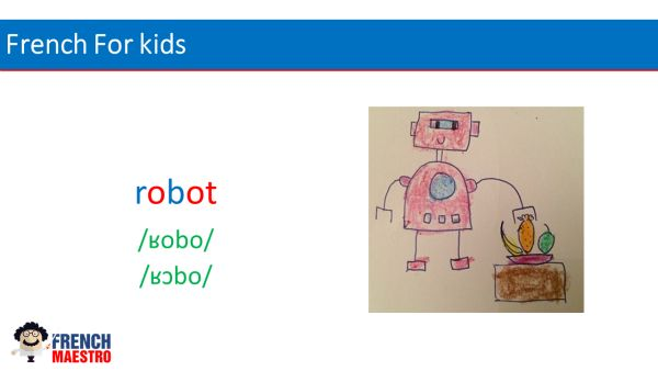 French For Kids : robot in French is robot
